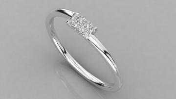Женское кольцо AU429