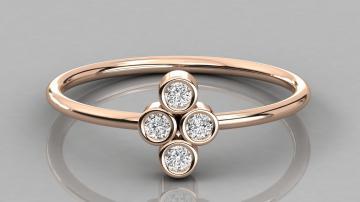 Женское кольцо AU439