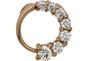 Кольцо женское из золота с бриллиантом
