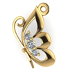 Подвеска женская из золота с бриллиантами